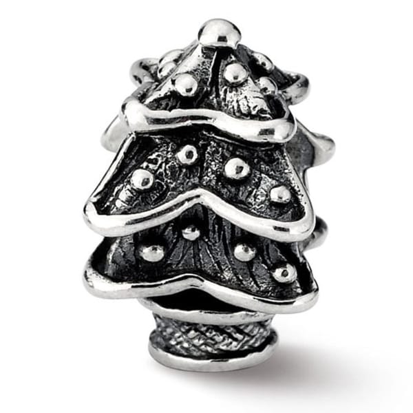 Sterling Silver Reflections Christmas Tree Bead (4mm Diameter Hole)