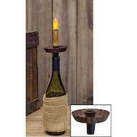 Rust Wine Bottle Taper Holder