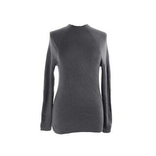 INC International Concepts Ribbed Mock Neck Long Sleeve Sweater - XL