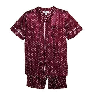 Ten West Apparel Men's Big and Tall Short Sleeve Short Leg Pajamas