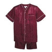 Ten West Apparel Men's Big and Tall Short Sleeve Short Leg Pajamas