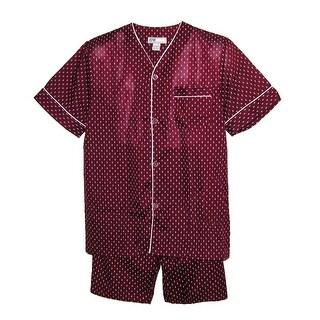Ten West Apparel Men's Tall Short Sleeve Short Leg Pajamas