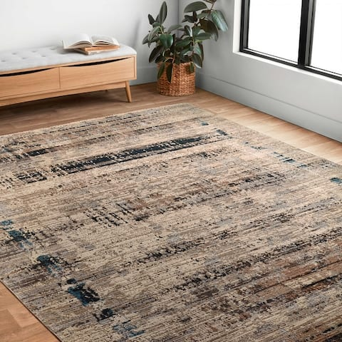 Alexander Home Reese Abstract Modern Area Rug