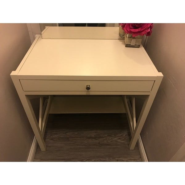 Shop Simple Living Antique White X Desk - Free Shipping Today -  Overstock.com - 9199805 - Shop Simple Living Antique White X Desk - Free Shipping Today