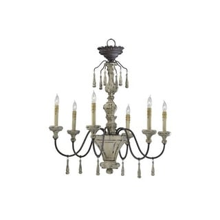 "Cyan Design 6513-6 31.75"" Six Lamp Chandelier from the Provence Collection"