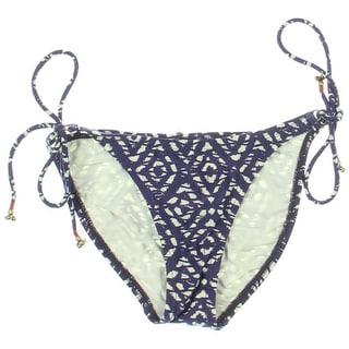 ViX Paula Hermanny Womens Printed Side Tie Swim Bottom Separates - S