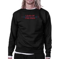 Land Of The Free Unisex Graphic Sweatshirt Black Crewneck Pullover