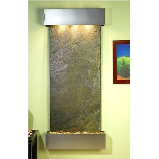 Adagio IFS2002 Inspiration Falls - Green Natural Slate Wall Fountain