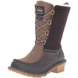 Woolrich Womens Fully Wooly Lace Winter Boots Suede Waterproof
