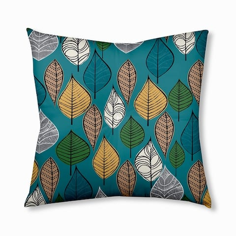 Autumn Leaves Design Tufted Floor Pillow