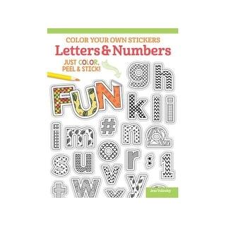 Design Originals Color Your/Sticker Letter&NmbrBk