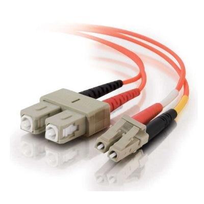 C2g 33154 1M Lc-Sc 10Gb 62.5/125 Om1 Duplex Multimode Pvc Fiber Optic Cable-Orange