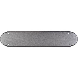 Top Knobs M908 Appliance Collection 15 Inch Pewter Plain Push Plate