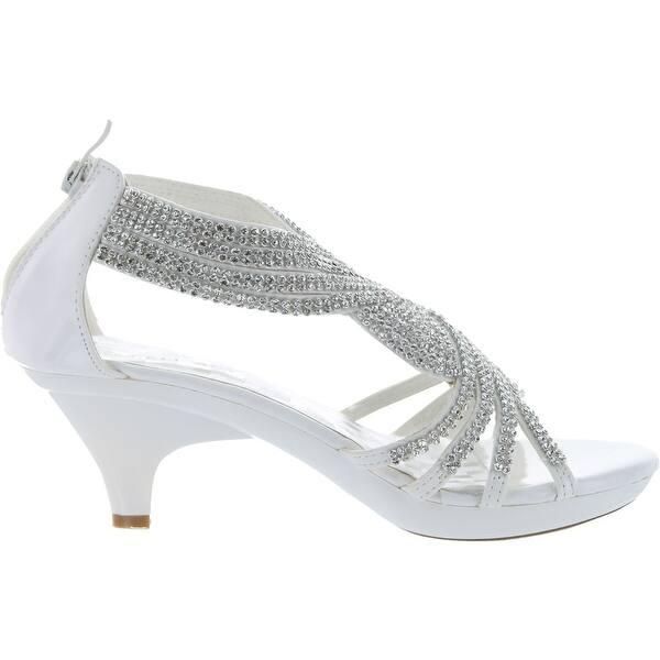 Shop Delicacy Womens Angel 37 Strappy Rhinestone Dress Sandal Low