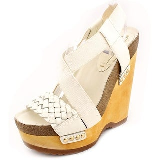 BCBG Max Azria Walter Women  Open Toe Canvas  Wedge Sandal