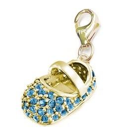 Julieta Jewelry Baby Shoe In Blue Clip-On Charm