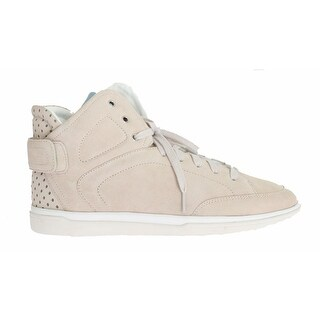Dolce & Gabbana Beige Leather High Top Sneakers - 44