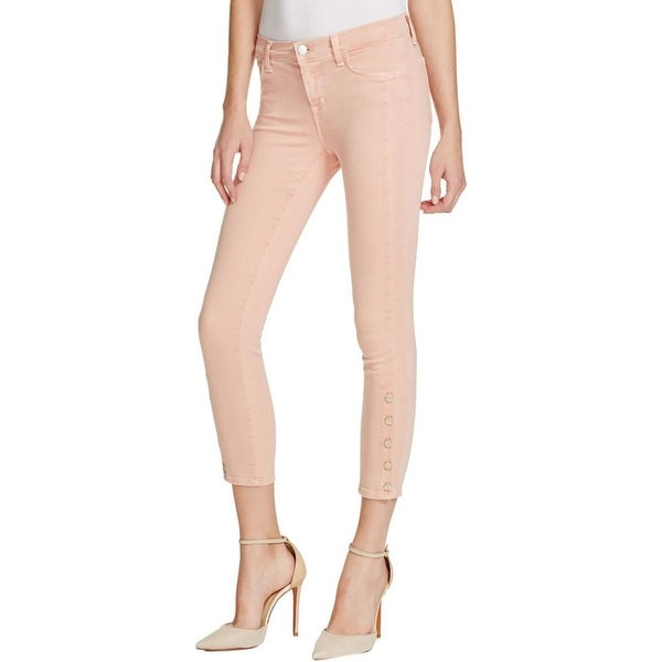 J Brand Womens Suvi Cropped Jeans Skinny Mid-Rise