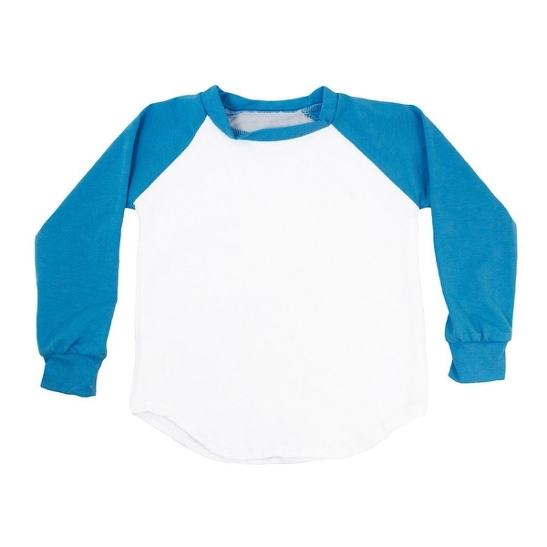 Unisex Baby Turquoise Two Tone Long Sleeve Raglan Baseball T-Shirt