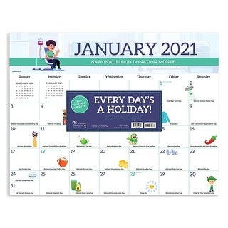 Link to 2021 Every Day's A Holiday Desk Pad Calendar - 22x17 Similar Items in Planners & Accessories