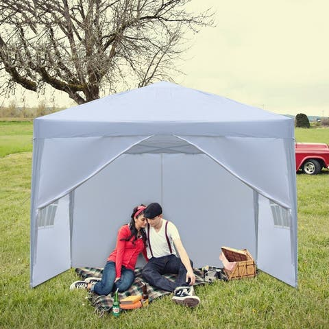 3 x 3m Two Doors & Two Windows Practical Waterproof Right-Angle Folding Tent
