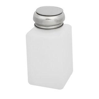 Unique Bargains White Plastic Metal Cap Liquid Container Alcohol Bottle  200ml Capacity