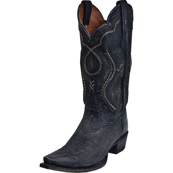 Dan Post Western Boots Mens Leather Tyree Chainlaced Rust