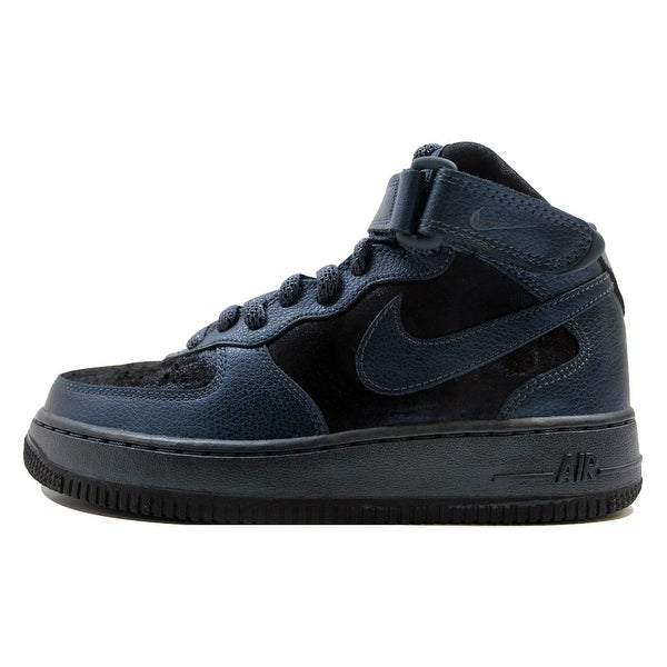 Nike Women's Air Force I 1 '07 Mid Premium Metallic Armory Navy 805292-900