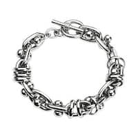 Stainless Steel Multiple Ring Chain Link with Moving Dumbbell (13.5 mm) - 8.5 in