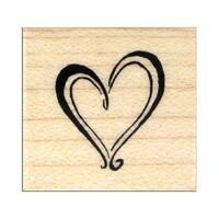 Inkadinkado Wood Stamp Heart