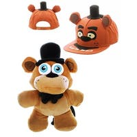 Five Nights at Freddy's Freddy Fazbear Snapback Hat and Plush Backpack Bundle - multi