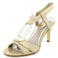 Alfani Destyne Women  Open-Toe Synthetic Gold Slingback Heel