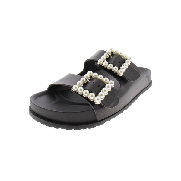 d25d60848a0 Shop Steve Madden Womens Nora Slide Sandals Faux Leather Pearl - Free  Shipping Today - Overstock - 27754691