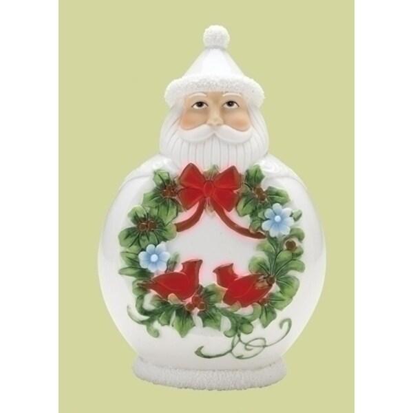 "7.5"" Scandinavian Santa Claus Porcelain Christmas Figure"