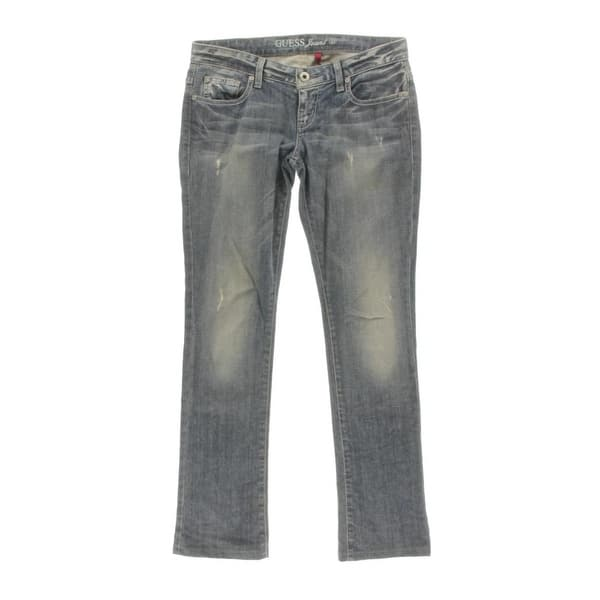 569aef6f49463 Guess Womens Starlet Straight Leg Jeans Sand Wash Classic Fit - 28. Image  Gallery