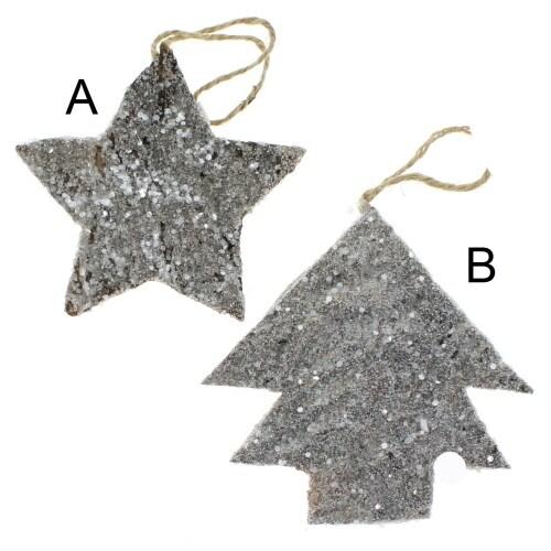 Glitter Bark Star or Tree