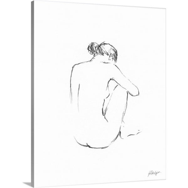 Ethan Harper Solid-Faced Canvas Print entitled Figure Contour III