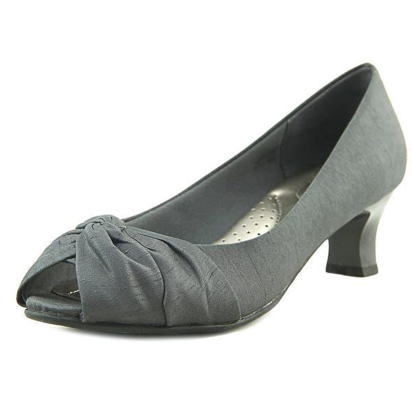 3bff6c484172 Shop Abella Laura Women Peep-Toe Canvas Gray Heels - Free Shipping ...