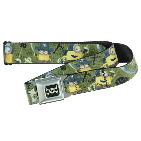 Despicable Me Seatbelt Belt - Pirate Minions-Holds Pants Up