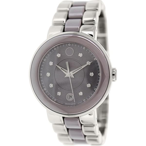 086d9d8d1 Movado Women's Cerena Silver Stainless-Steel Swiss Quartz Fashion Watch