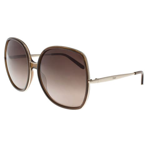 b03537c40f2c7 Chloe CE725 S P02 210 Brown Square Sunglasses - 62-17-135