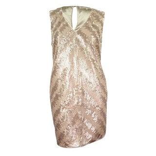 RACHEL Rachel Roy Women's Sequined Cocktail Dress - gold/champagne (3 options available)