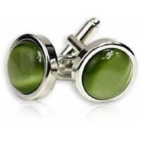 Bold Olive Cufflinks