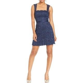 Teeze Me Womens Juniors Party Dress Lace Open Back