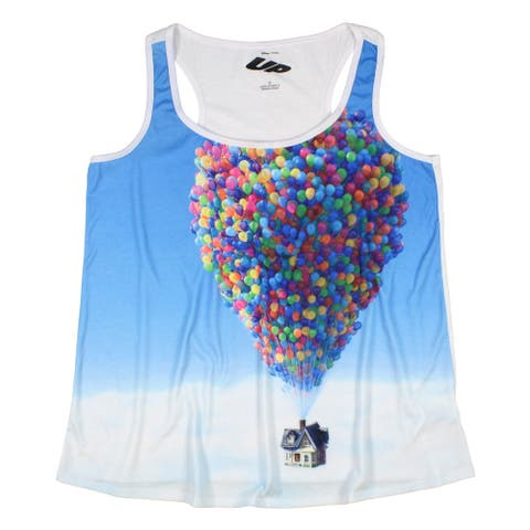 Disney Up Junior's House In The Sky Balloon Sublimation Tank Top