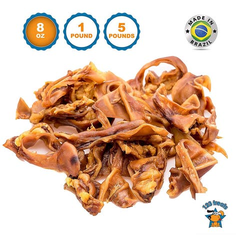 Pigs Ears Strips Dogs Chews 100% Natural Healthy Pig Ear Slivers Dog Treats Pork Curls Pet Chew by 123 Treats