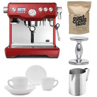 Breville BES920CBXL Dual Boiler Espresso Machine (Cranberry Red) Bundle