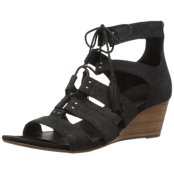 UGG Australia Womens Yasmin Leather Open Toe Casual Platform Sandals