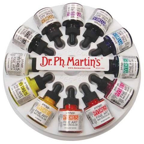 Dr. Ph. Martin's - Hydrus Fine Art Watercolor Set - 12-Color .5 oz. Set 1