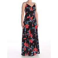 BAR III Womens Black Floral Maxi Formal Dress  Size: S